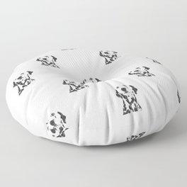 Black and White Dalmatian Floor Pillow