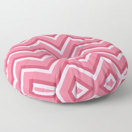 Pink Zig Zag Pattern Floor Pillow