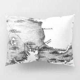 Vintage Map of Cape Cod (1885) BW Pillow Sham