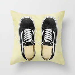 boy's sneakers stayhome Throw Pillow