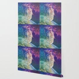 Astronaut dissolving through space Wallpaper