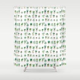 Tiny garden Shower Curtain