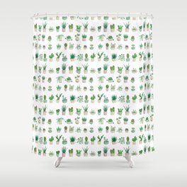Tiny garden Shower Curtain