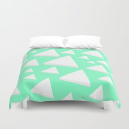 White Triangles Duvet Cover