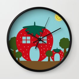 Vege House Wall Clock