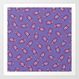 Girl Power Pattern in Purple Art Print