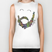 beard Biker Tanks featuring BEARD by Dani Herrera