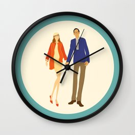 A touch of colour - Modern, Fashion Inspired Illustration Print Wall Clock