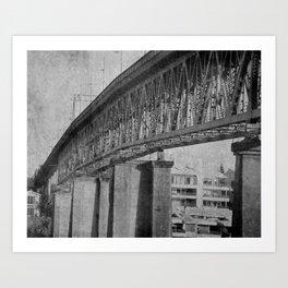OLD SELLWOOD BRIDGE - PORTLAND OREGON Art Print