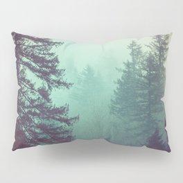 Forest Fog Fir Trees Pillow Sham