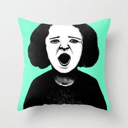 Cutout Turquoise Throw Pillow