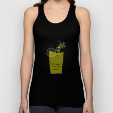 life is a glass of juice, drink it! Unisex Tank Top