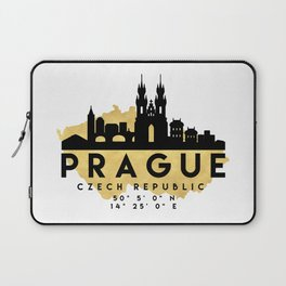PRAGUE CZECH REPUBLIC SILHOUETTE SKYLINE MAP ART Laptop Sleeve