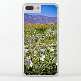 Superbloom Field in the Anza Borrego Desert Filled with Flowers Clear iPhone Case