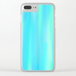Blue Hues Clear iPhone Case