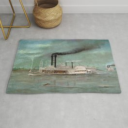 Steamboat Robert E. Lee Painting Rug