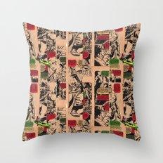 Caiaque Prateado Throw Pillow