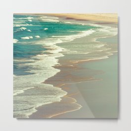 Indian Ocean's Emerald Turquoise Tropical Waters and Surf Metal Print
