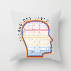 Technology Savvy Throw Pillow