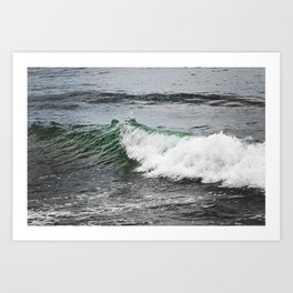 Green Wave Art Print