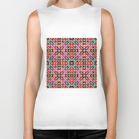 mosaic Biker Tanks featuring Mosaic by David Zydd
