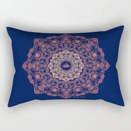 Tribal Hogfish Mandala on Indigo Rectangular Pillow