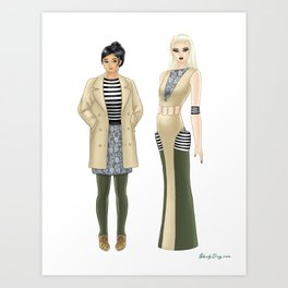 Fashion Journal: Day 16 Art Print