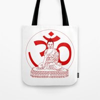 ohm Tote Bags featuring OHM by Kyle Griffis Illustration