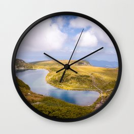 The kidney lake Wall Clock