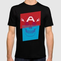 Captain America 2X-LARGE Mens Fitted Tee Black