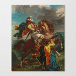 "Eugène Delacroix ""Greek horseman and an Ottoman Turk"" Canvas Print"