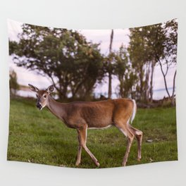 A Deer In Marquette Wall Tapestry
