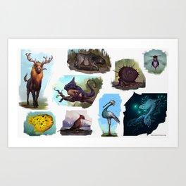 ExoCREATURES Art Print