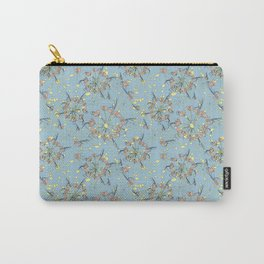 Pale blue and rosé - flowers trip Carry-All Pouch