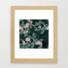 Floral Jungle leaves Framed Art Print