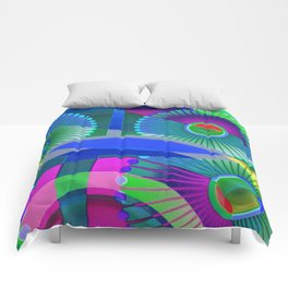 Bright Abstract Comforters