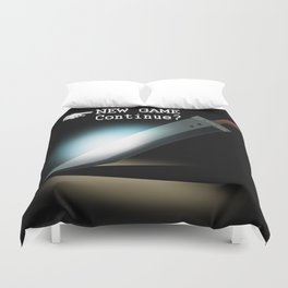 NEW GAME - Continue? Duvet Cover