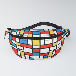 Mondrian design, abstract pattern Fanny Pack