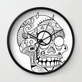 Porcs Riches Skull Wall Clock