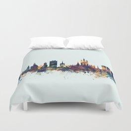Aberdeen Scotland Skyline Duvet Cover