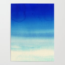 Sky Watercolor Texture Abstract 710 Poster