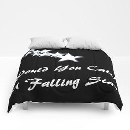 Would You Catch A Falling Star? Black and White Art, Stars Comforters