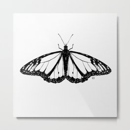 Not so real Butterfly I black-and-white Metal Print