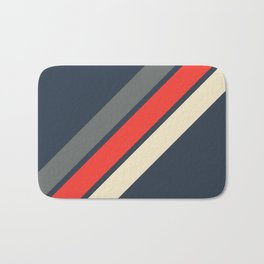 3 Retro Stripes #4 Bath Mat