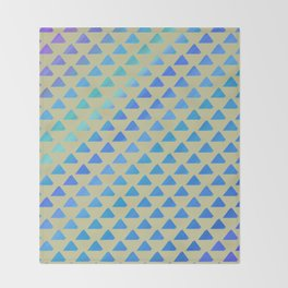 Blue green triangles Throw Blanket