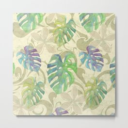 Hawaiian Tropical Leaf Design Metal Print