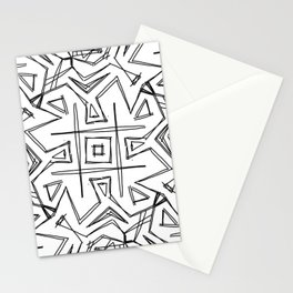 Tic Tac Geometric-Oh Stationery Cards