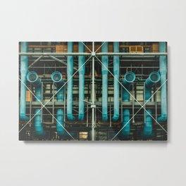 Pipes and vents - The Centre Pompidou, Paris Metal Print