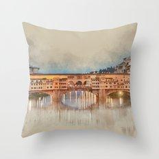 Firenze, Ponte Vecchio Throw Pillow