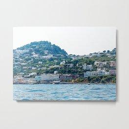 Capri village in summer Metal Print